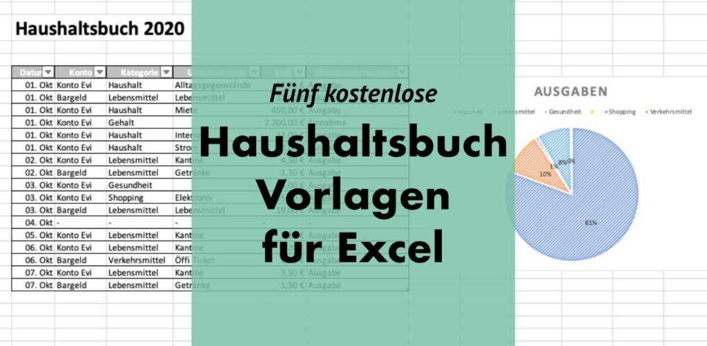 Haushaltsbuch Vorlage für Excel