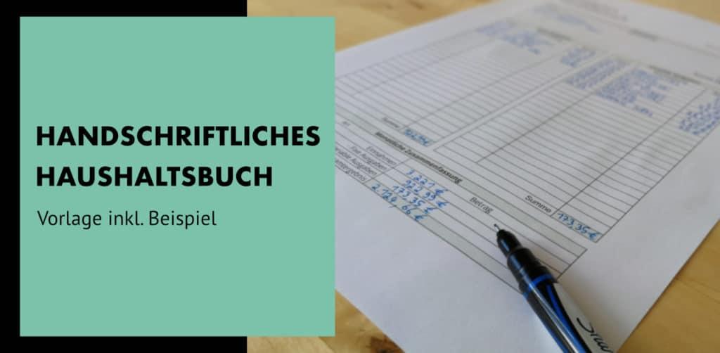 Handschriftliches Haushaltsbuch